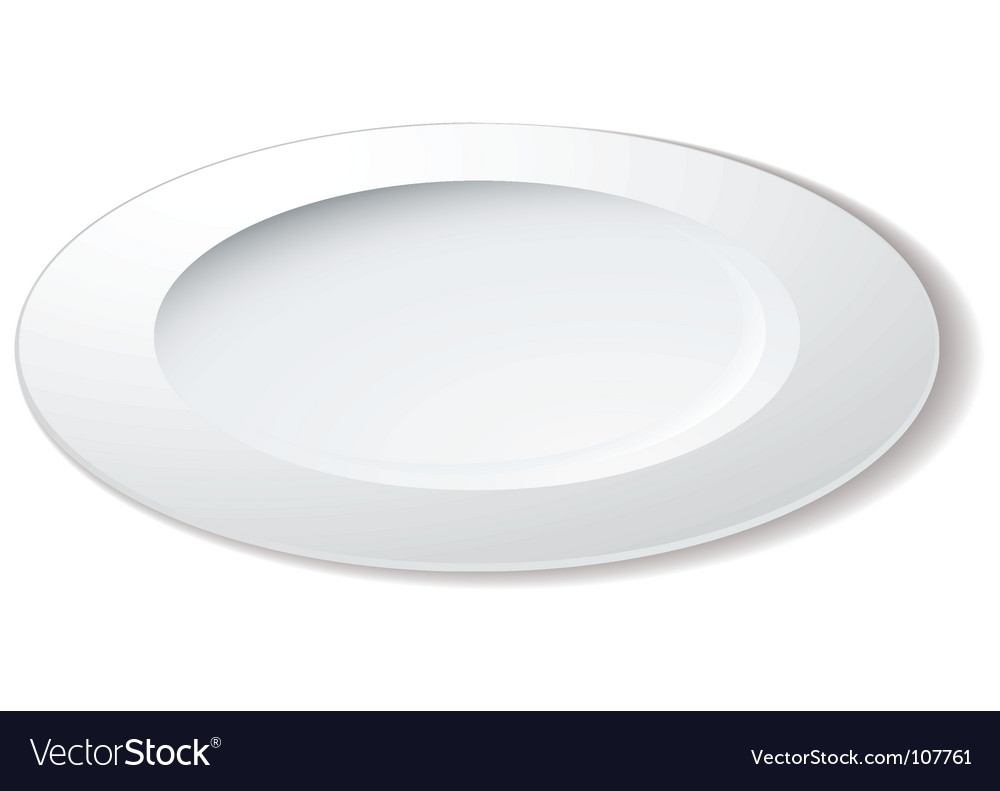 Dinner plate vector | Price: 1 Credit (USD $1)