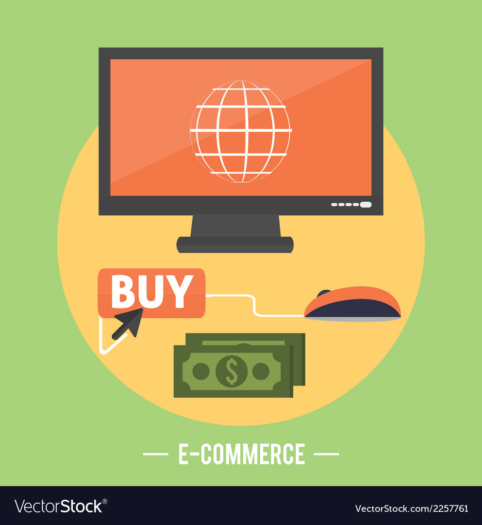 E-commerce infographic concept of purchasing vector | Price: 1 Credit (USD $1)