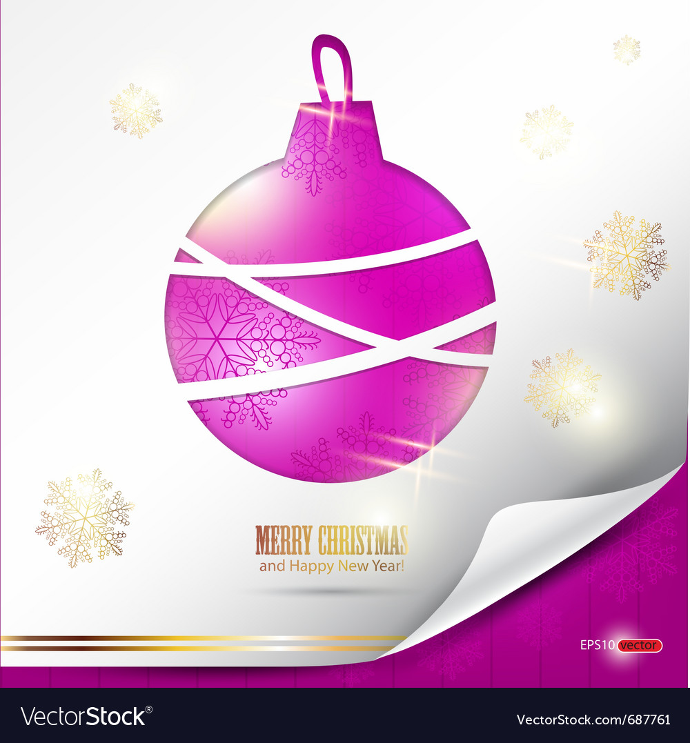 Elegant christmas background with evening ball pla vector | Price: 1 Credit (USD $1)