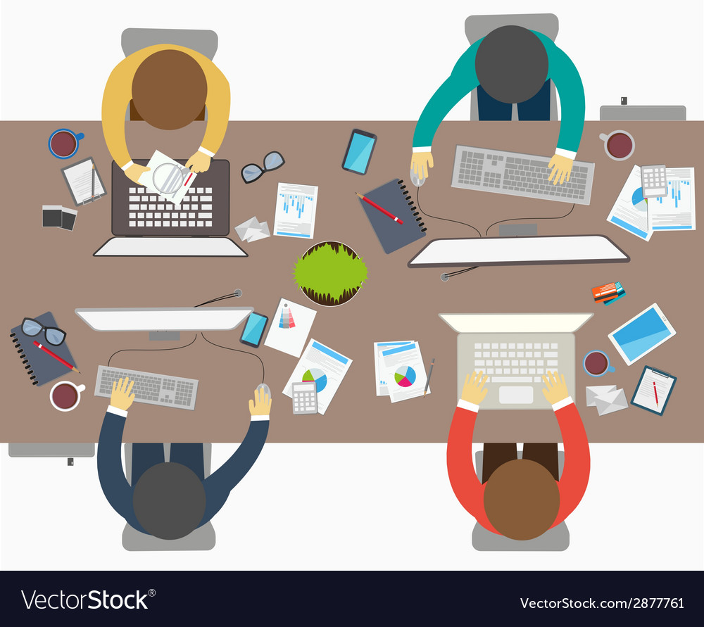 Flat design style of business meeting office work vector | Price: 1 Credit (USD $1)