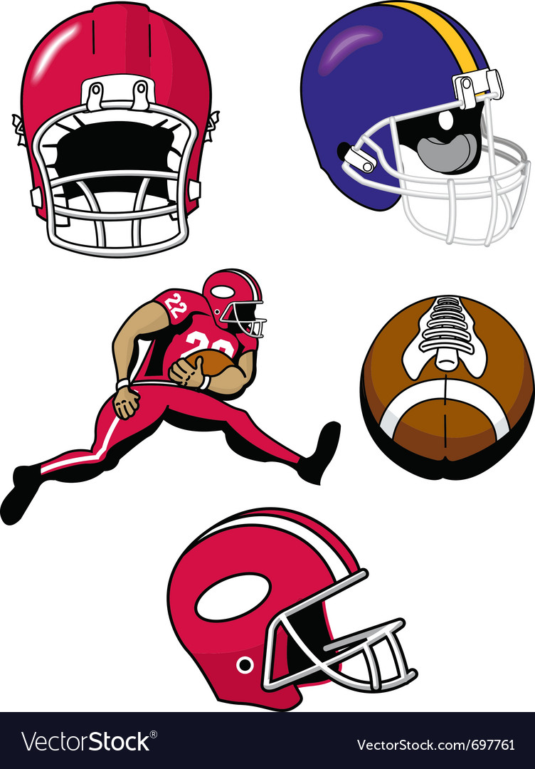 Football equipment vector | Price: 1 Credit (USD $1)