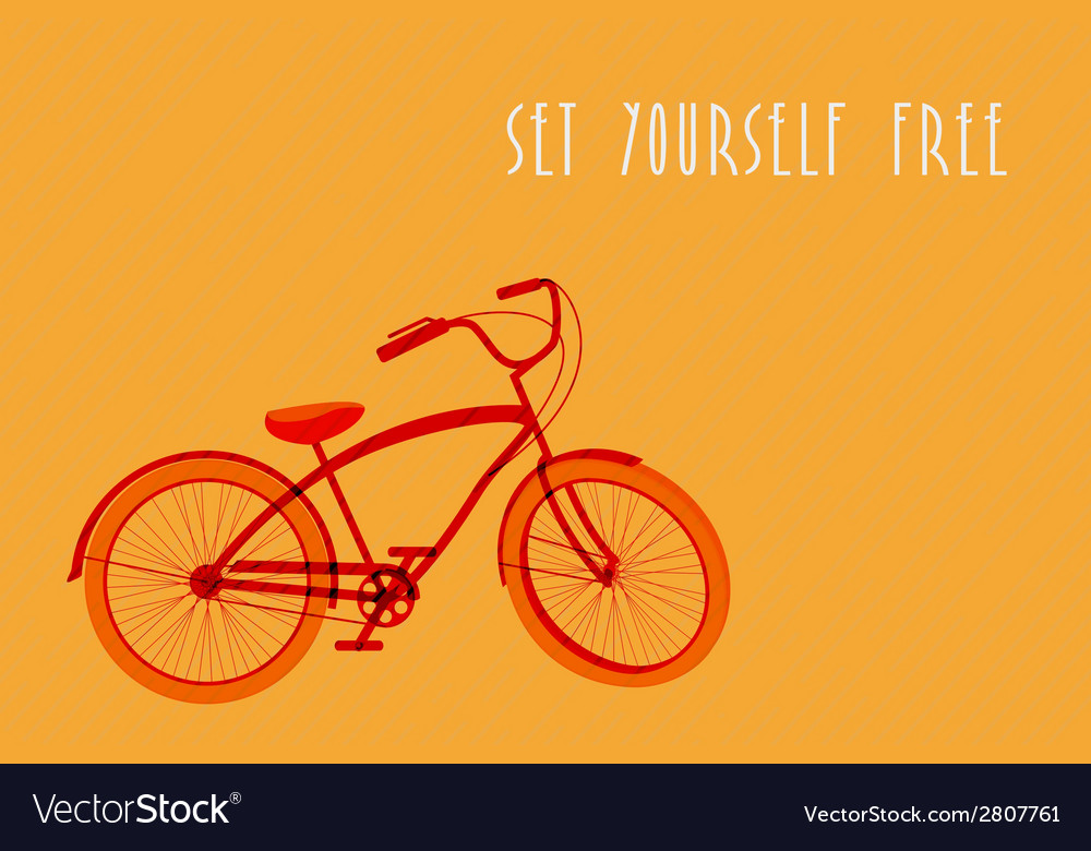 Hipsters bicycle sketch vector | Price: 1 Credit (USD $1)