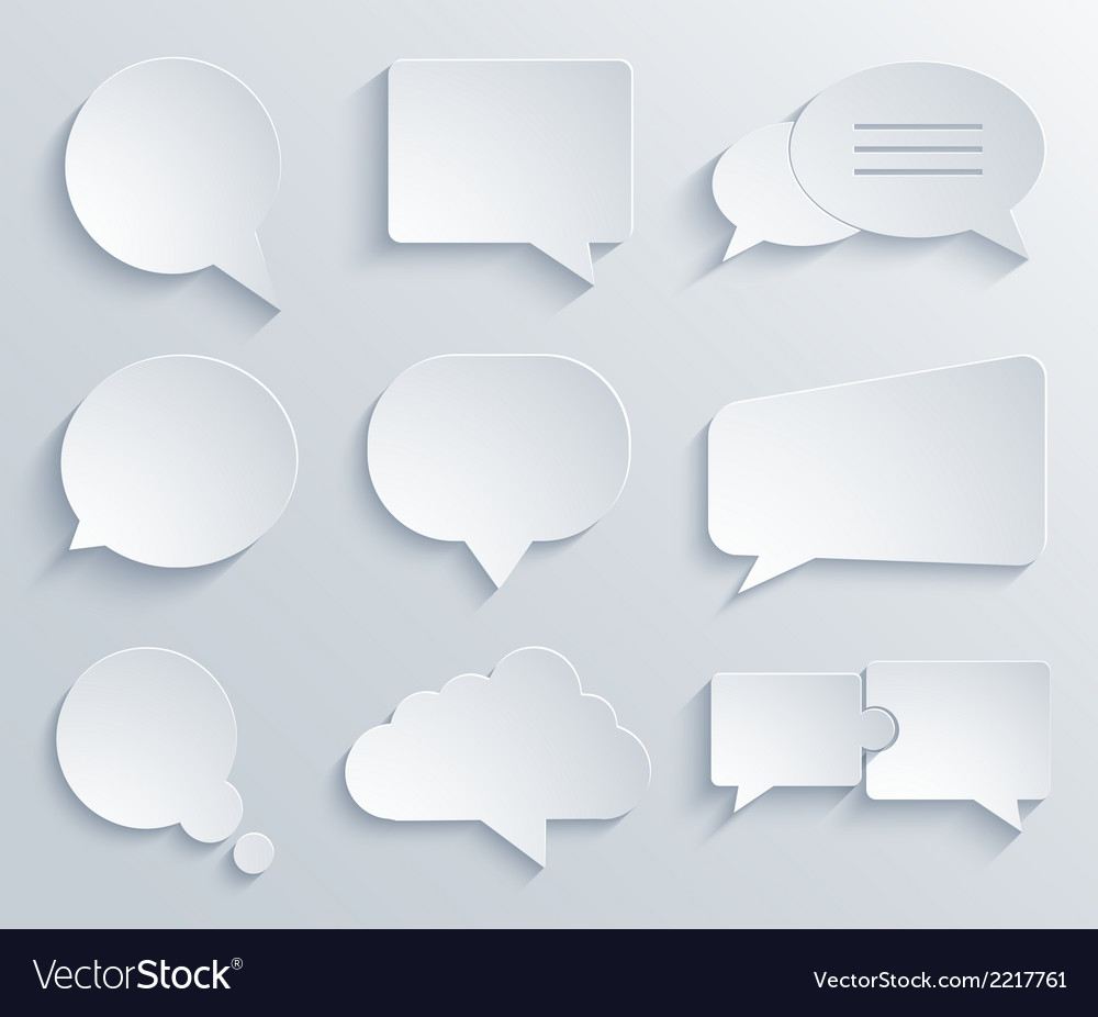 Modern bubble speech icons set vector | Price: 1 Credit (USD $1)