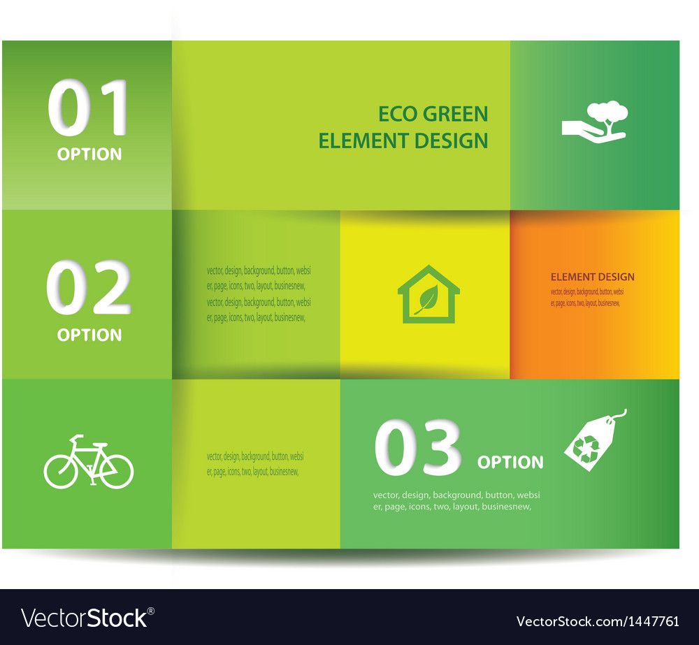 Paper eco element and numbers design vector | Price: 1 Credit (USD $1)