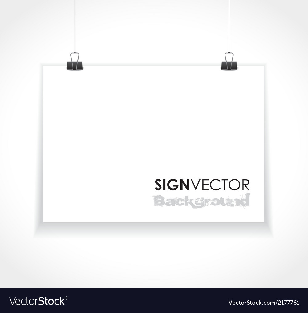 Paper sign vector | Price: 1 Credit (USD $1)