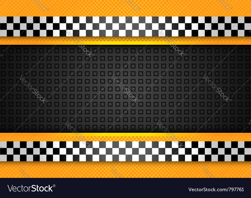 Taxi cab background racing blank template vector | Price: 1 Credit (USD $1)