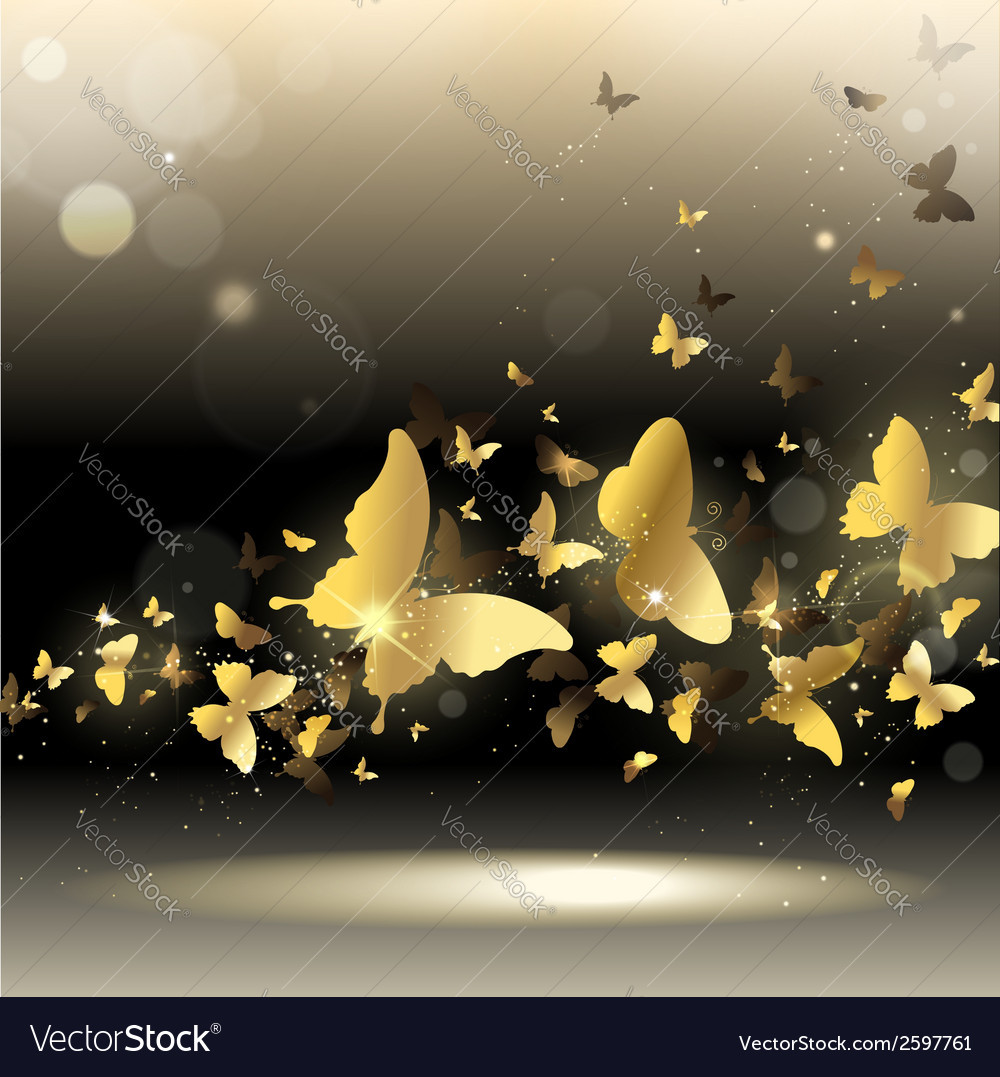 Whirlwind of butterflies vector | Price: 1 Credit (USD $1)