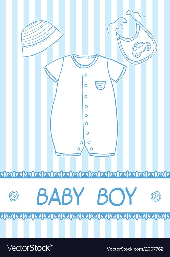 Baby boy card vector | Price: 1 Credit (USD $1)