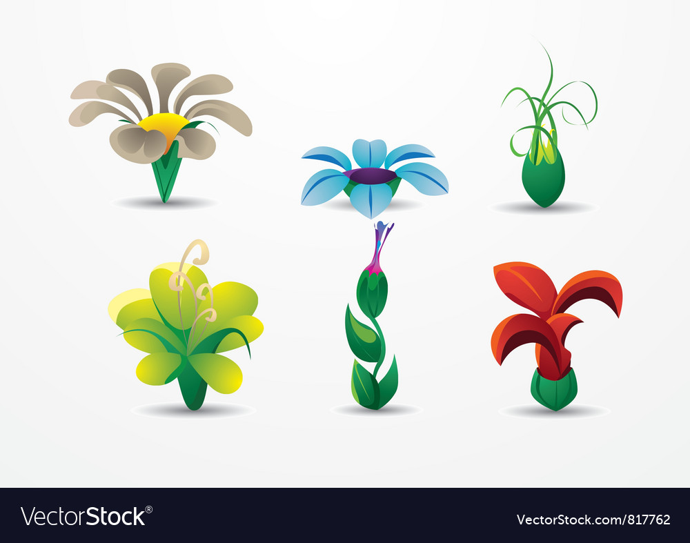Bouquet of beautiful flowers vector | Price: 1 Credit (USD $1)