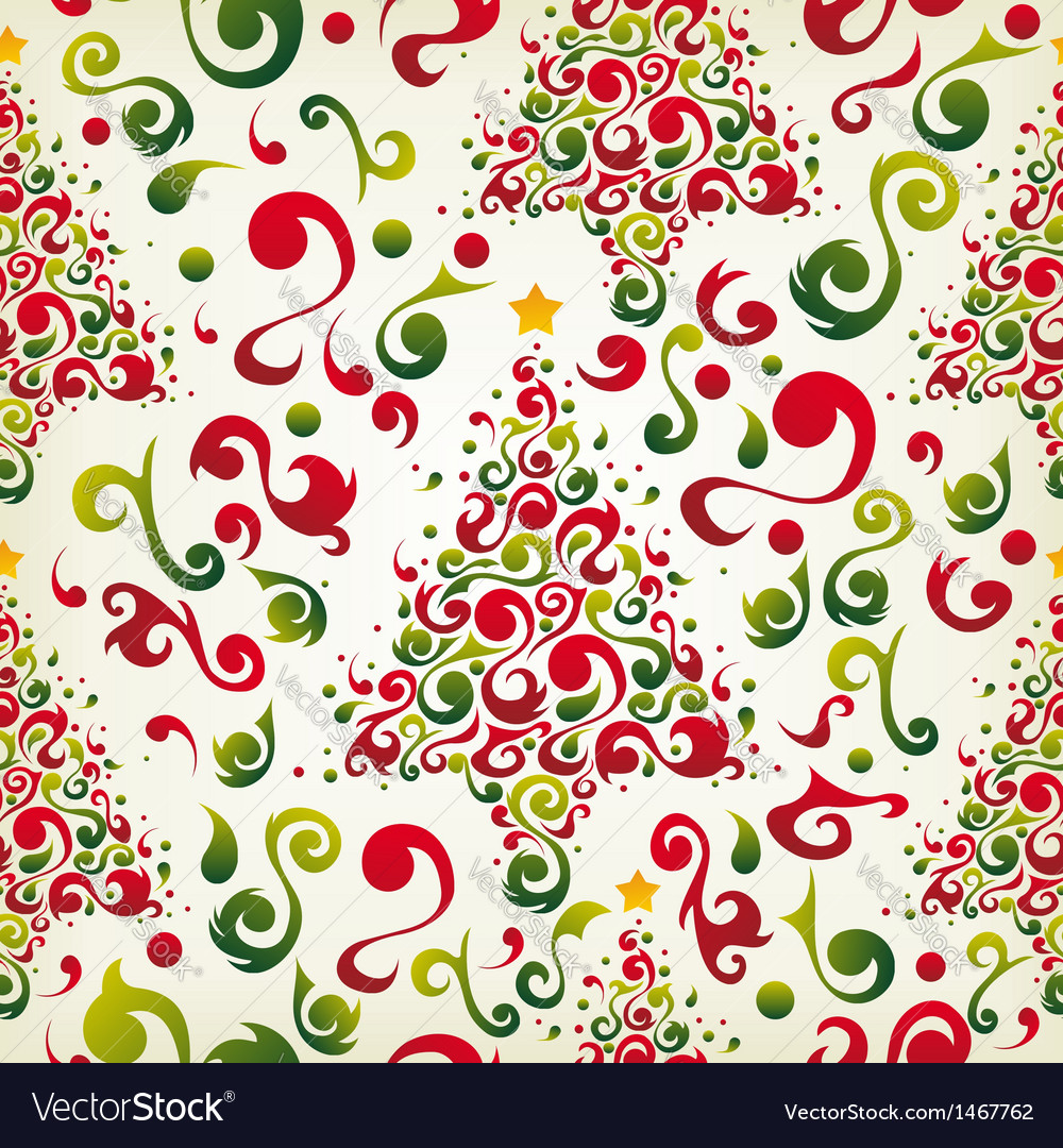 Christmas tree pattern vector | Price: 1 Credit (USD $1)