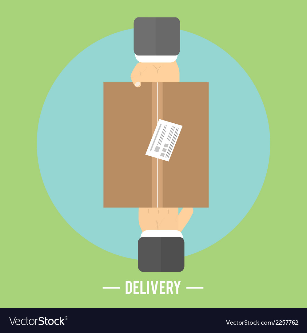 Delivery box and two hands delivery service 24 vector | Price: 1 Credit (USD $1)
