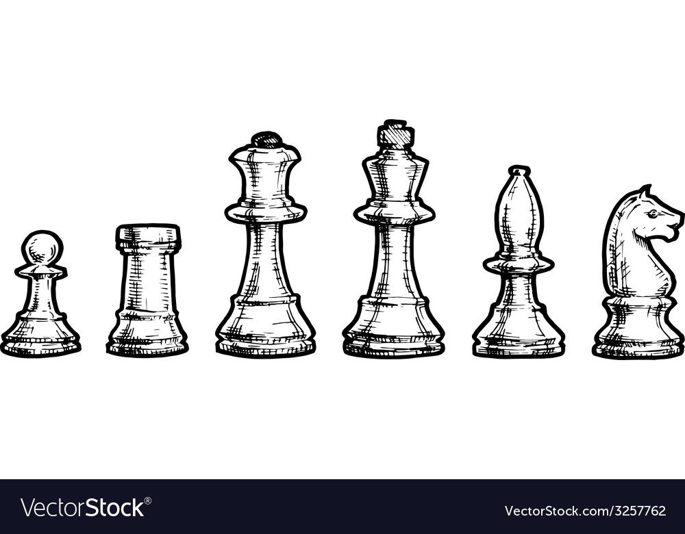 Drawing of chess vector | Price: 1 Credit (USD $1)