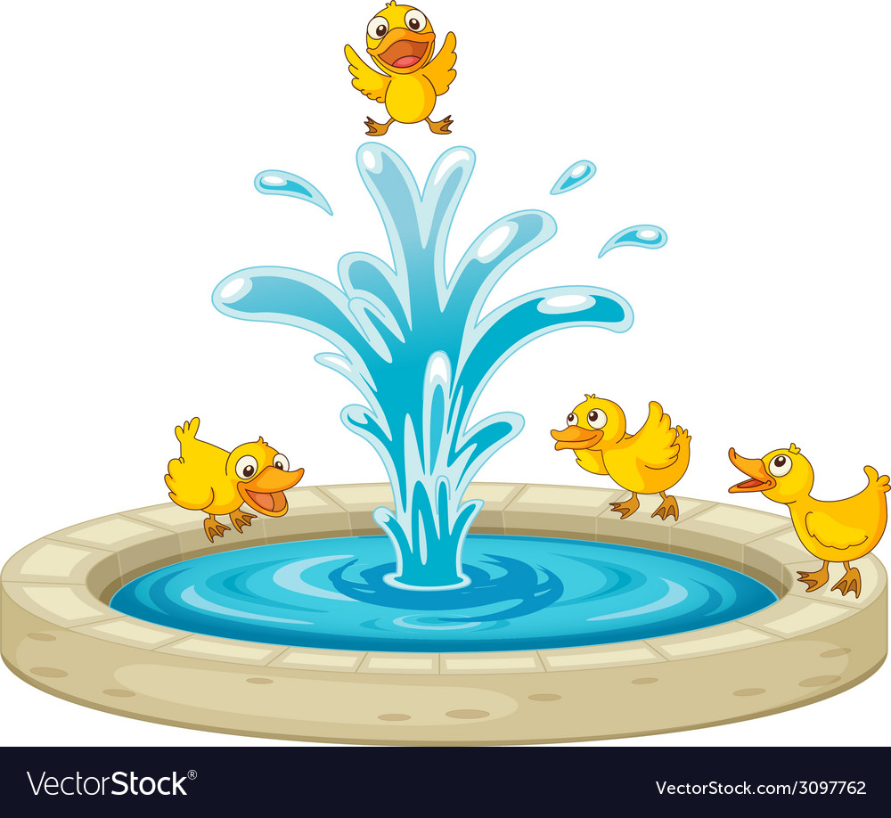 Ducks and fountain vector   Price: 1 Credit (USD $1)