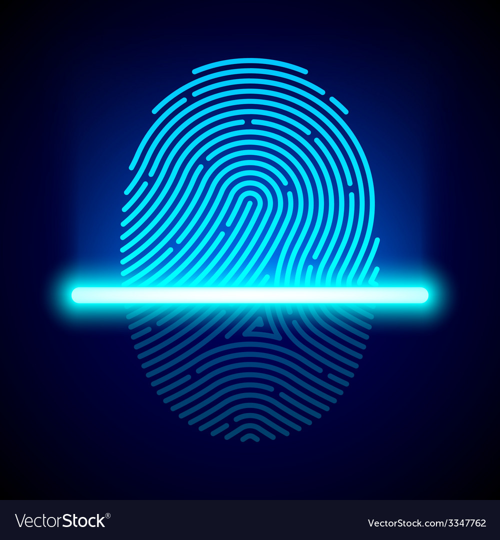 Fingerprint scanner vector | Price: 1 Credit (USD $1)