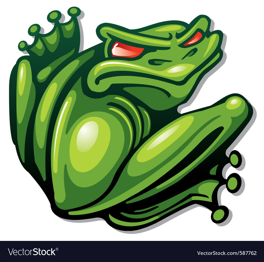 Green frog vector | Price: 1 Credit (USD $1)