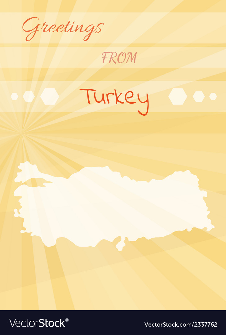 Greetings from turkey vector | Price: 1 Credit (USD $1)