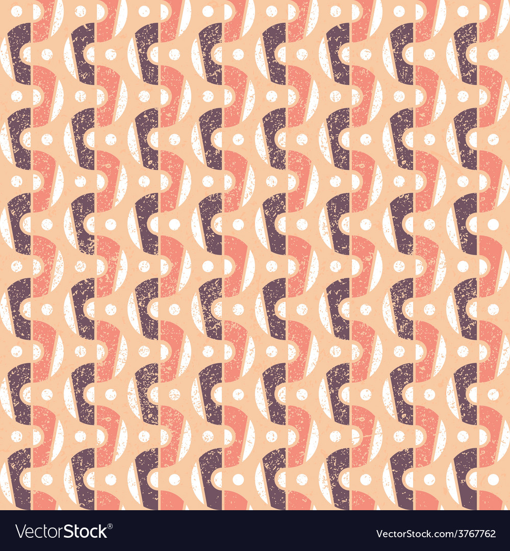 Pattern in retro style vector | Price: 1 Credit (USD $1)