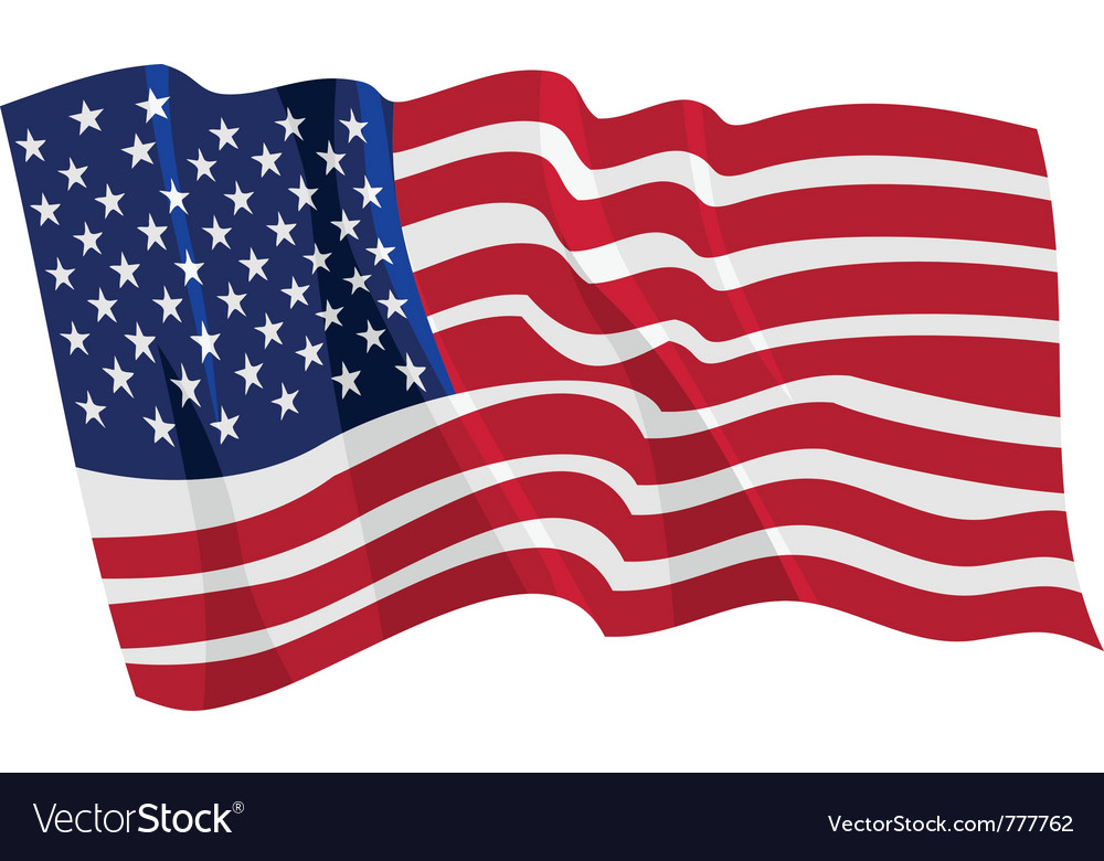 Political waving flag of united states vector | Price: 1 Credit (USD $1)