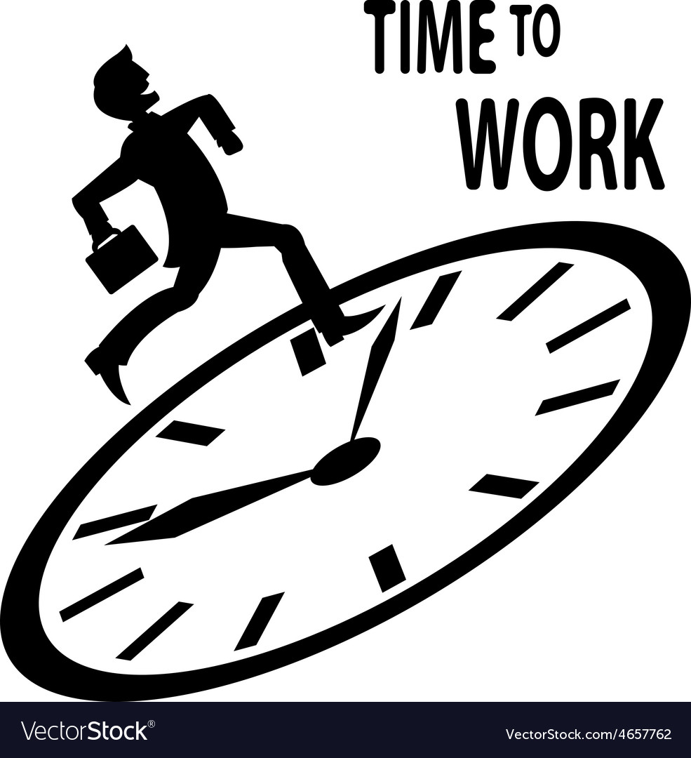 Time to work vector | Price: 1 Credit (USD $1)