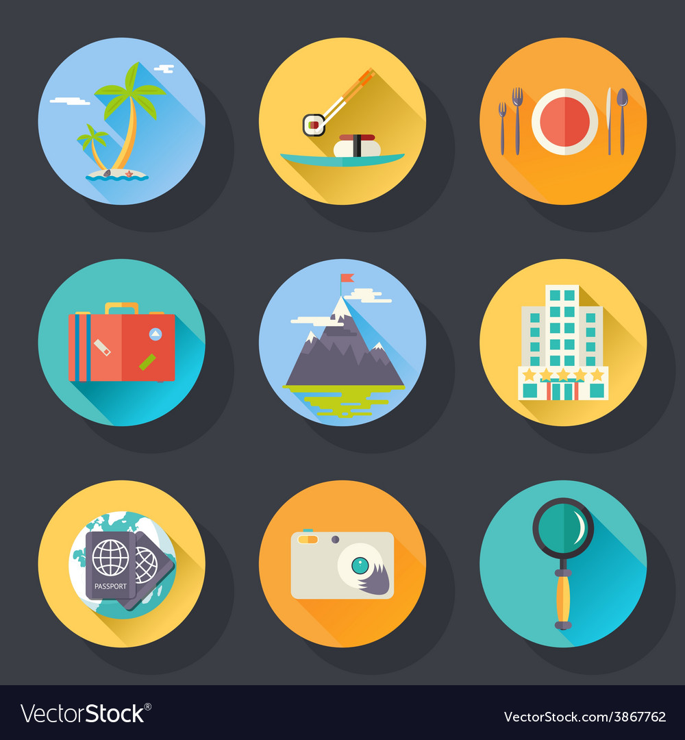 Travel tourism vacation weekend logo world trip vector | Price: 1 Credit (USD $1)