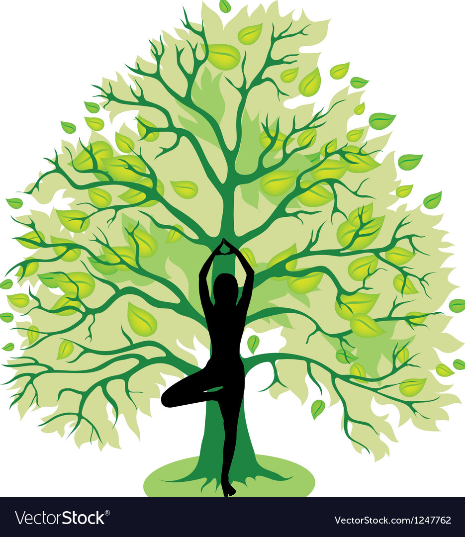 Tree yoga pose vector | Price: 1 Credit (USD $1)