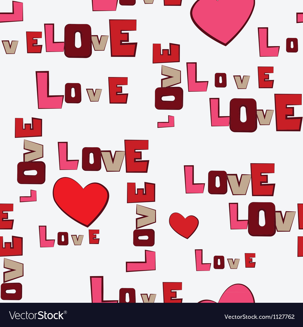 Valentines day hearts love seamless pattern vector | Price: 1 Credit (USD $1)