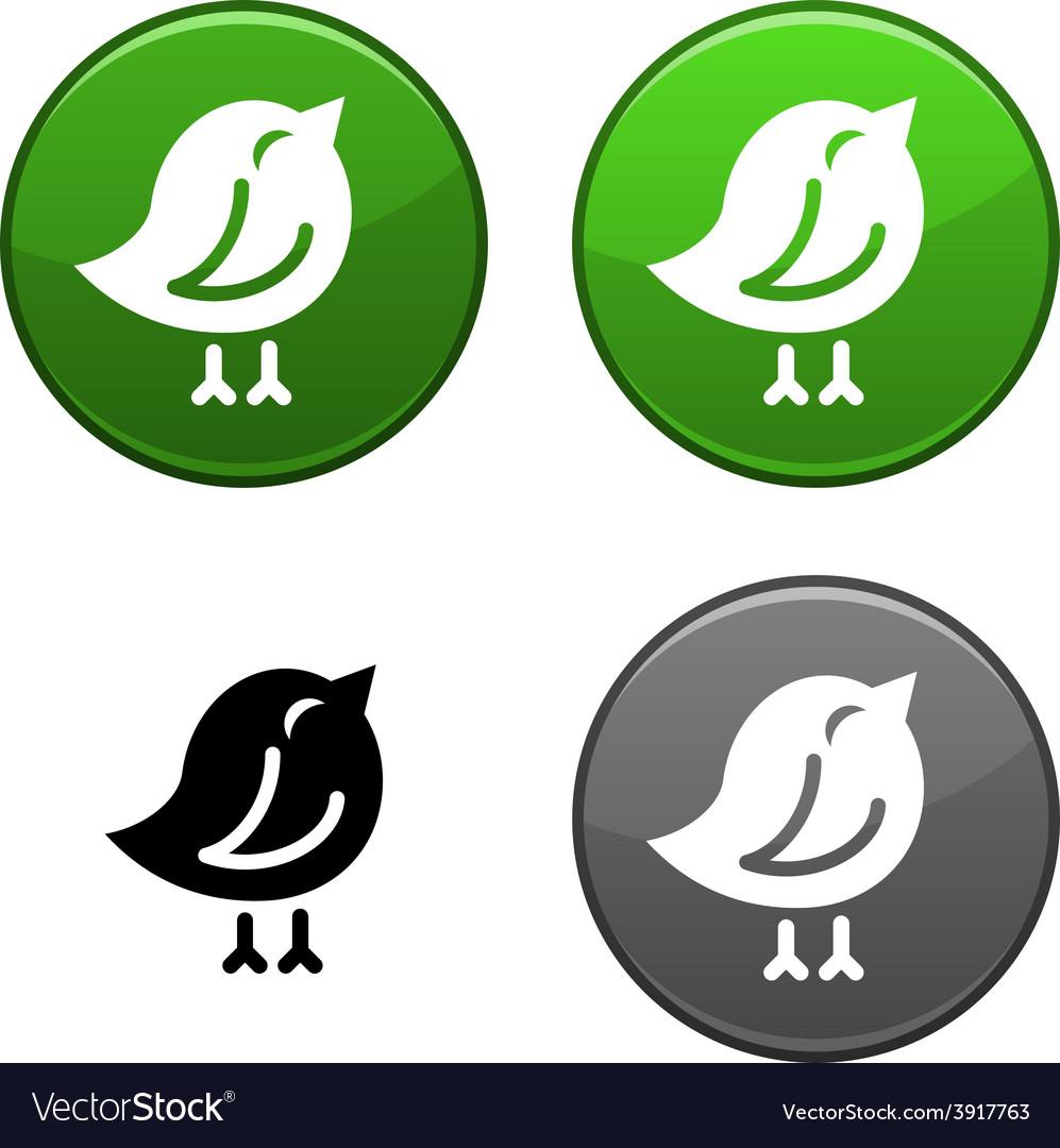 Bird button vector | Price: 1 Credit (USD $1)