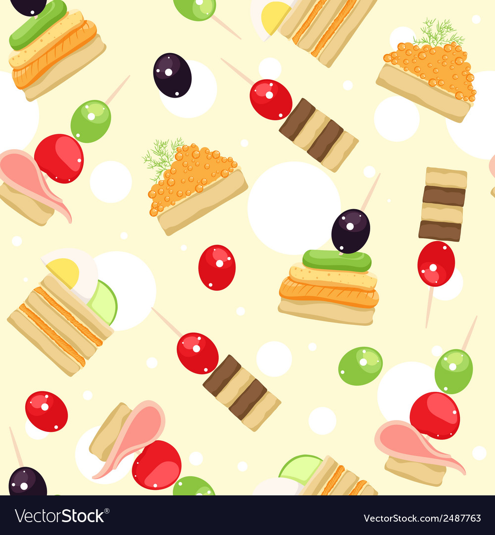 Canapes vector | Price: 1 Credit (USD $1)