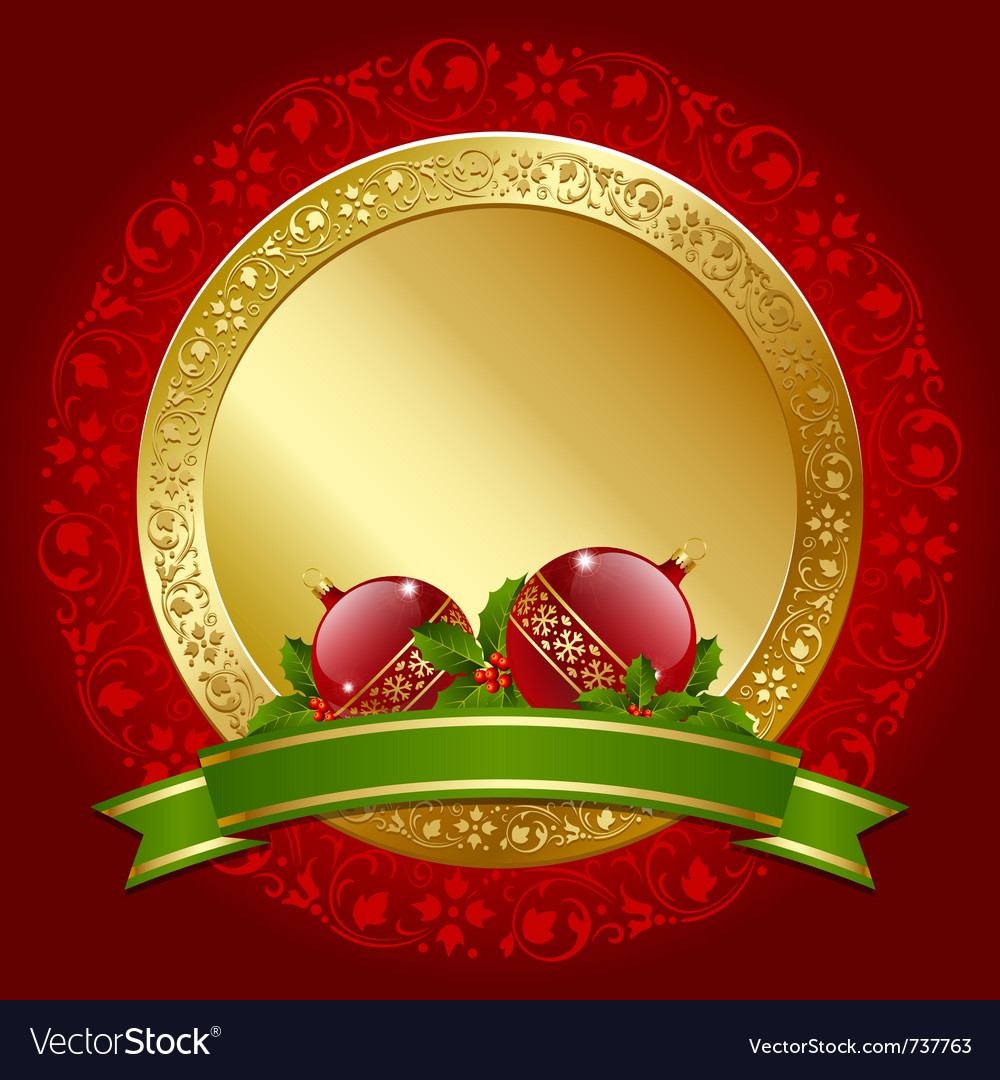 Christmas plaque vector | Price: 3 Credit (USD $3)