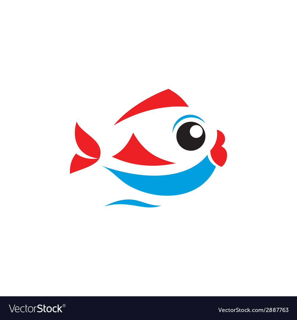Fish sign vector | Price: 1 Credit (USD $1)