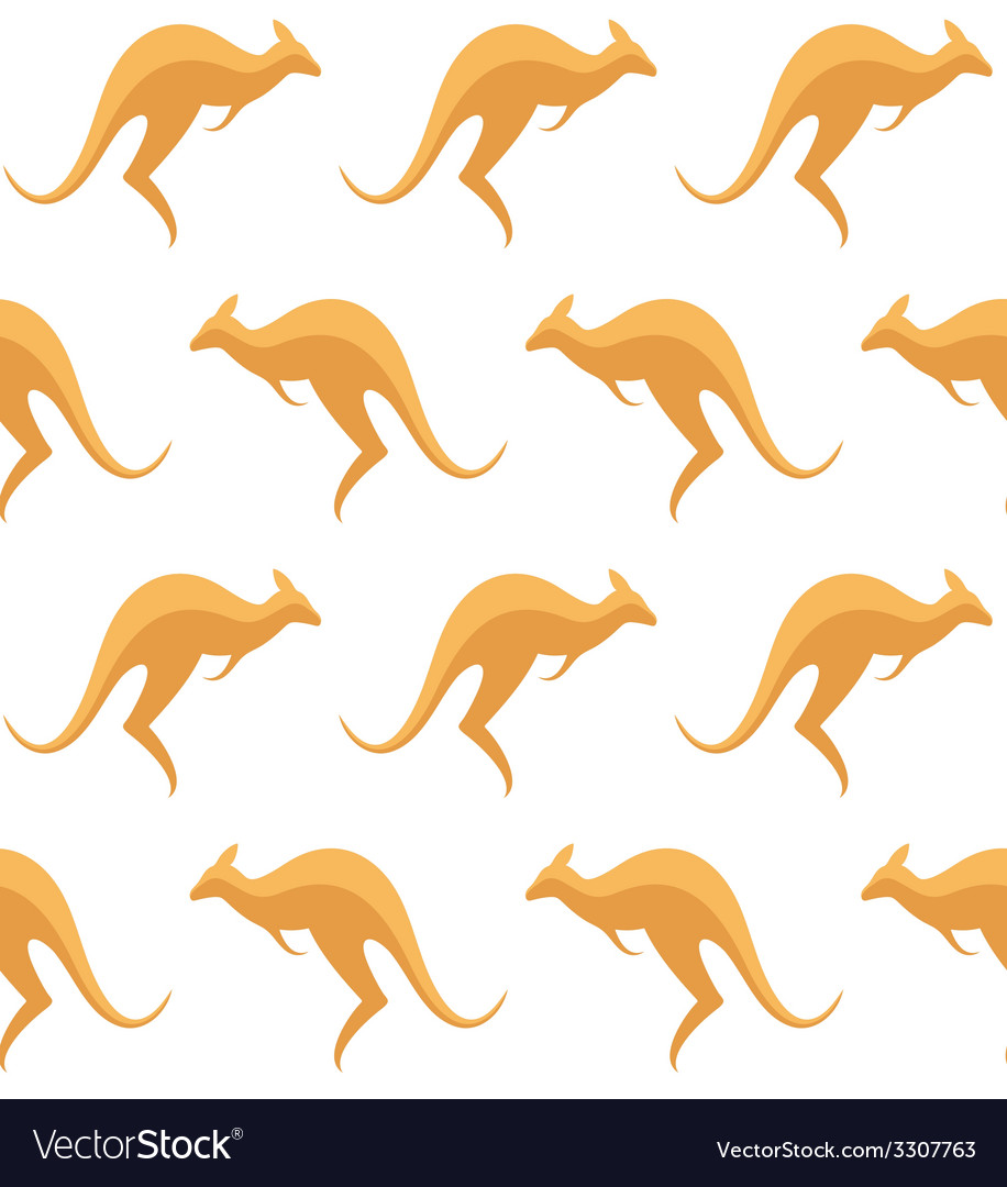 Kangaroo pattern vector | Price: 1 Credit (USD $1)