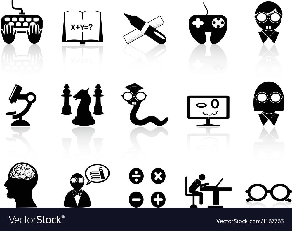 Nerds icon set vector | Price: 1 Credit (USD $1)