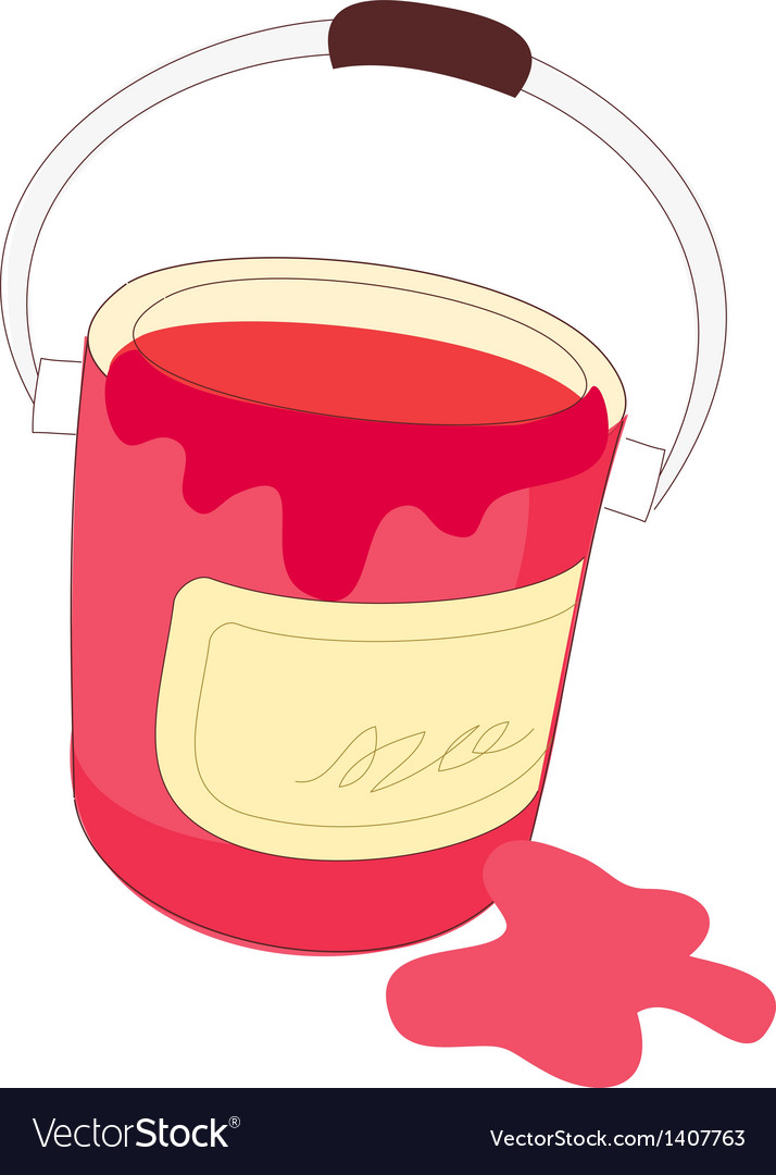 The paint in a bucket vector | Price: 1 Credit (USD $1)