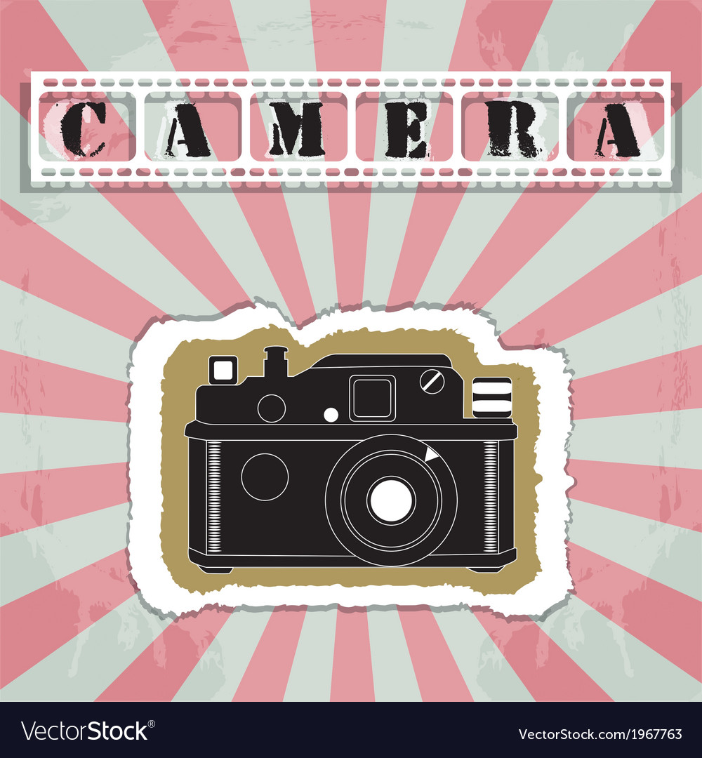 Retro camera in a scrapbook style vector | Price: 1 Credit (USD $1)