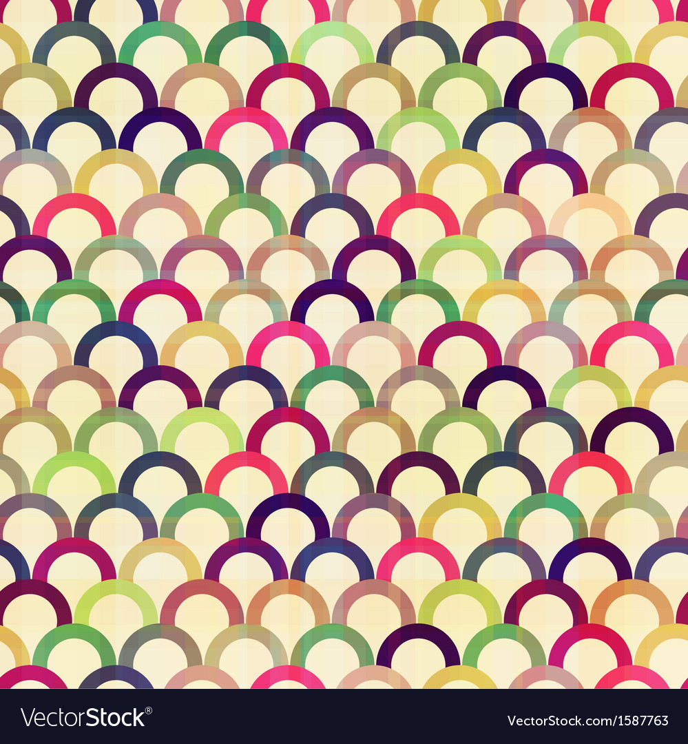 Seamless circular abstract pattern vector | Price: 1 Credit (USD $1)