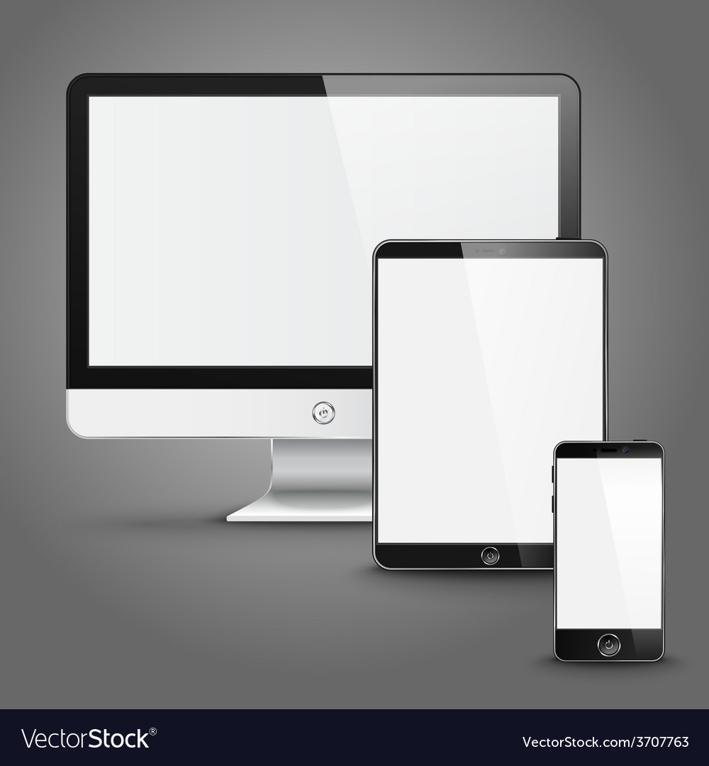 Set of all size screen devices for site preview vector | Price: 1 Credit (USD $1)