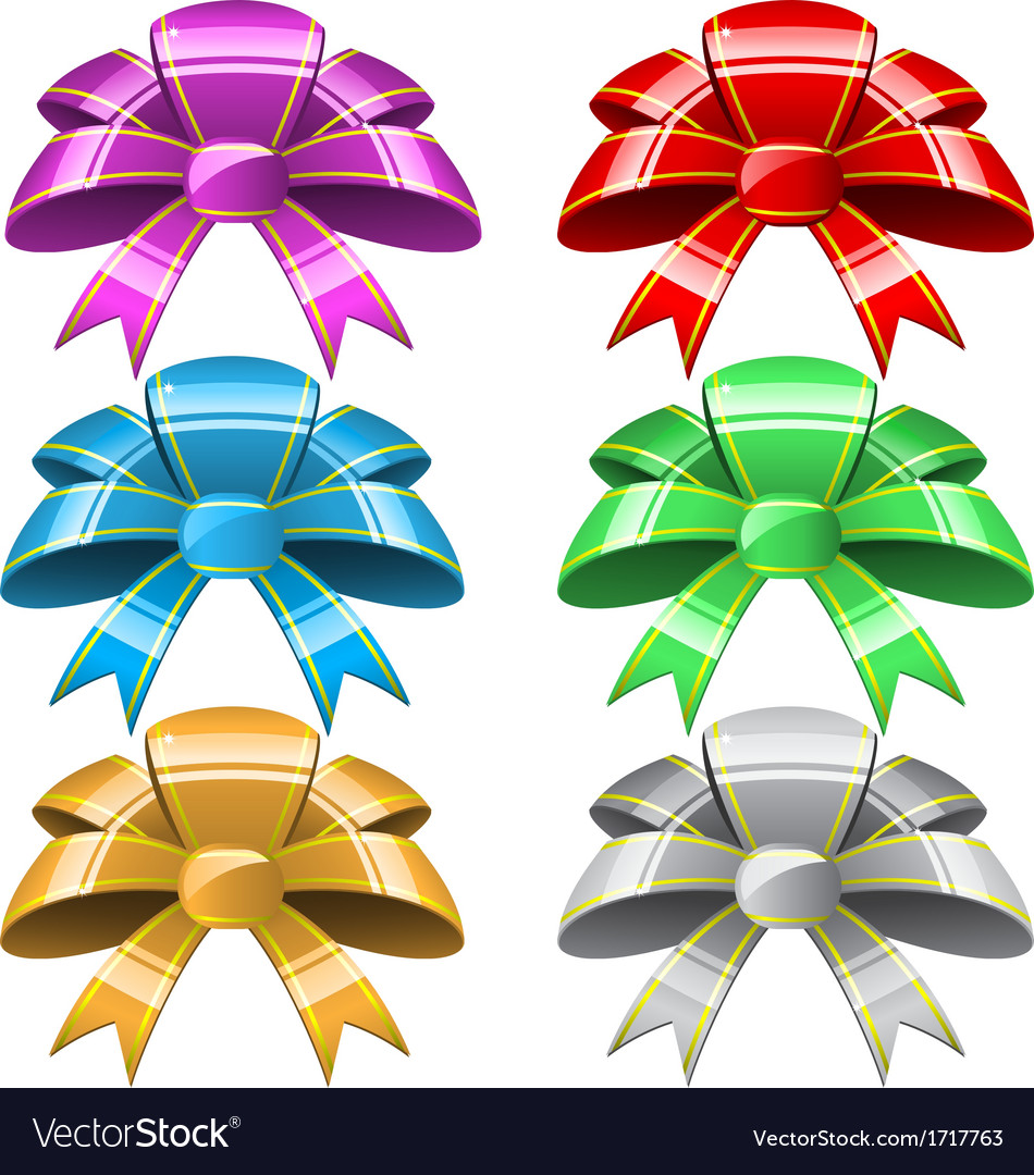 Six bows vector | Price: 1 Credit (USD $1)