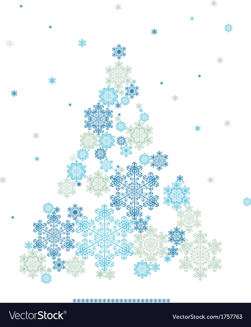 Stylized silhouette of christmas tree formed by vector | Price: 1 Credit (USD $1)