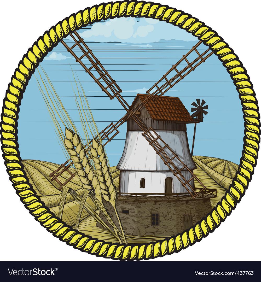 Windmill vector | Price: 3 Credit (USD $3)