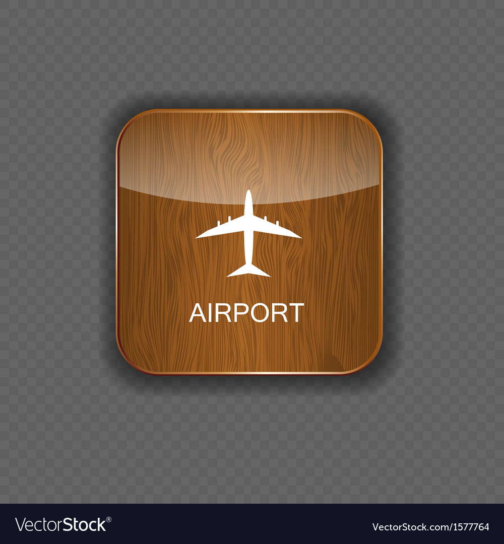 Airport application icons vector | Price: 1 Credit (USD $1)