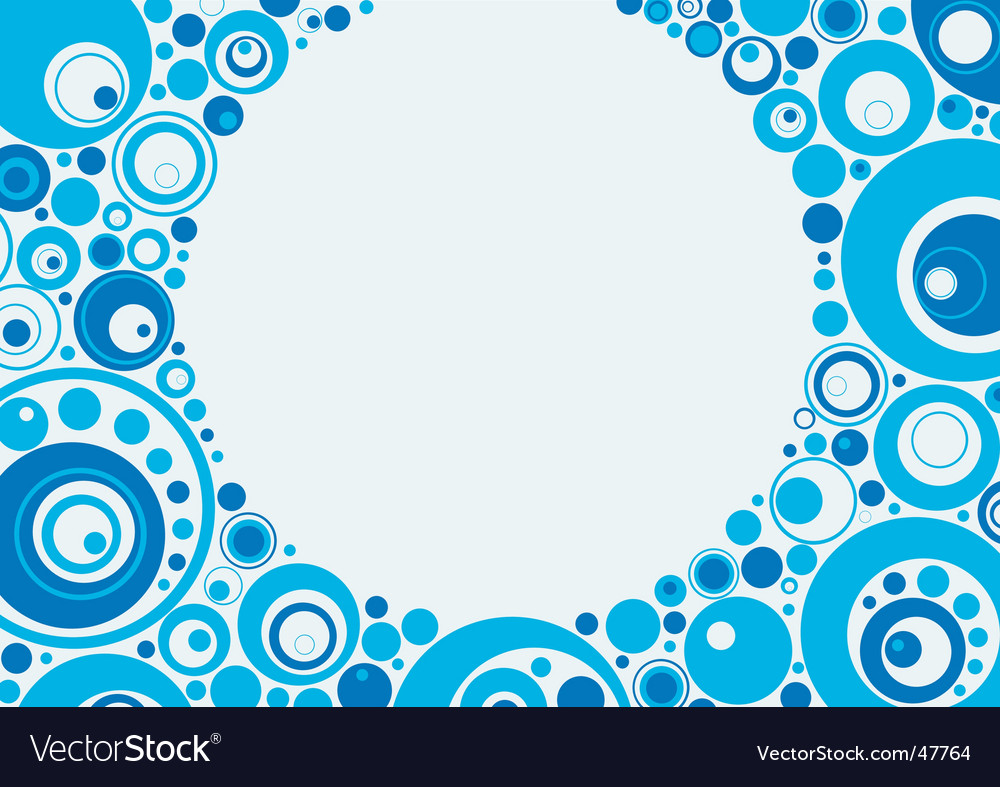 Blue circles vector