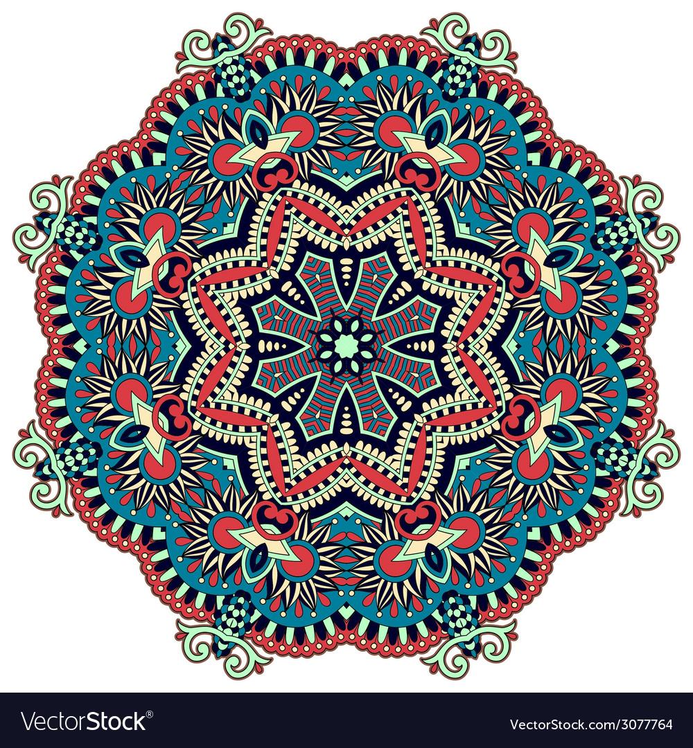Circle ornament ornamental round lace vector | Price: 1 Credit (USD $1)