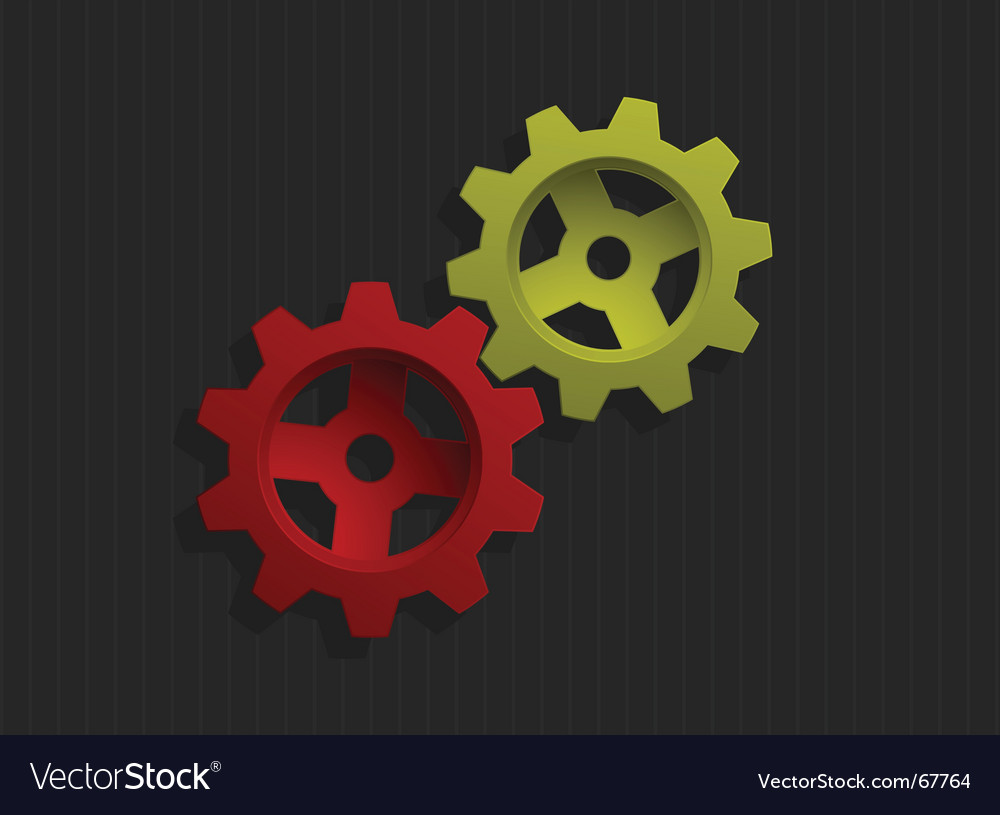 Colored gears vector | Price: 1 Credit (USD $1)