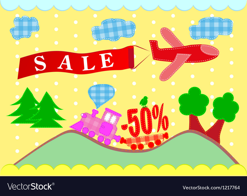 Discounts banner sales vector | Price: 1 Credit (USD $1)