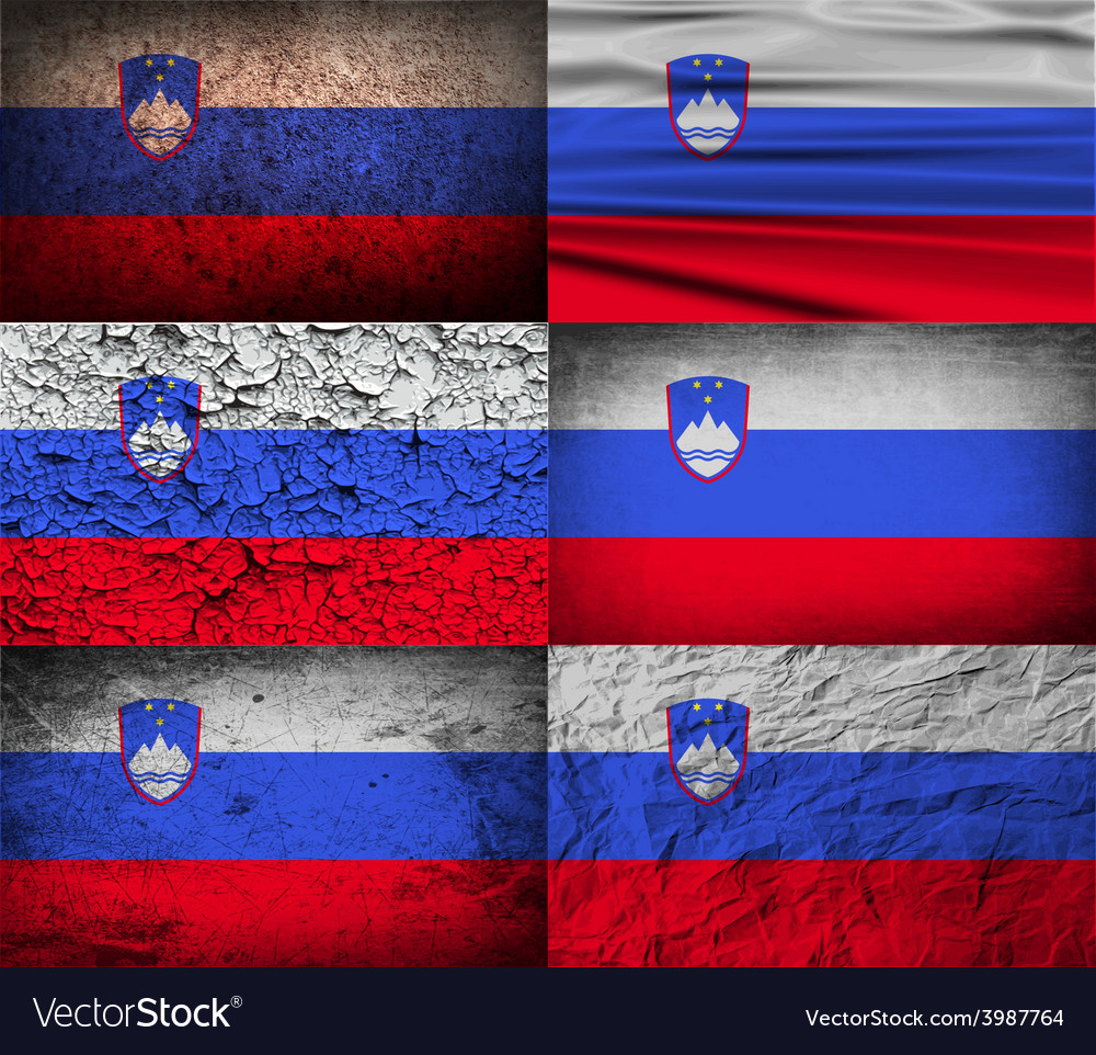 Flag of slovenia with old texture vector | Price: 1 Credit (USD $1)