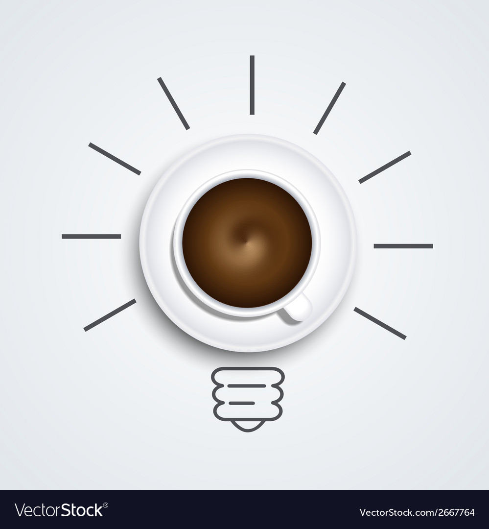 Idea with coffee modern busines background vector | Price: 1 Credit (USD $1)