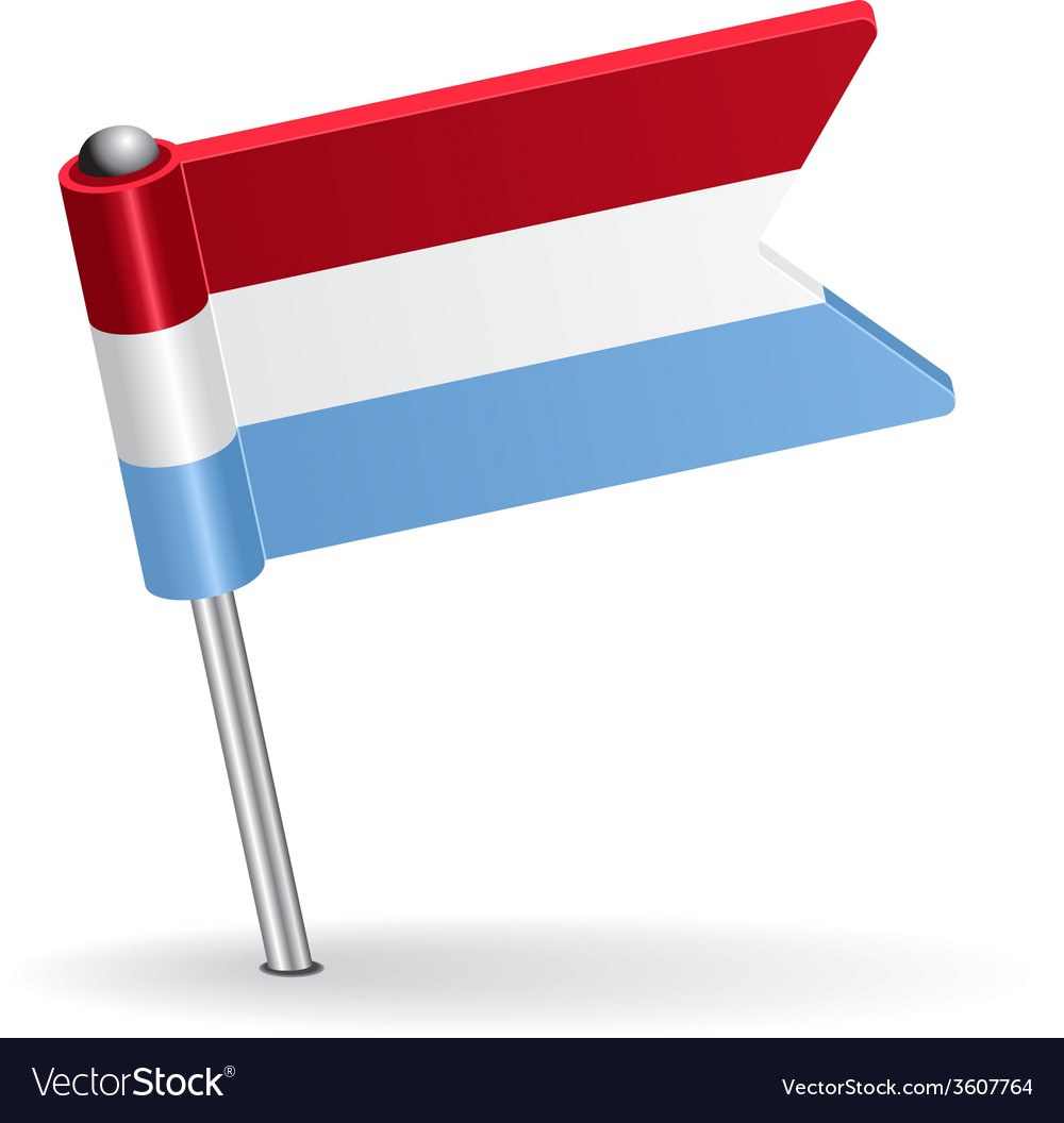 Luxembourg pin icon flag vector | Price: 1 Credit (USD $1)
