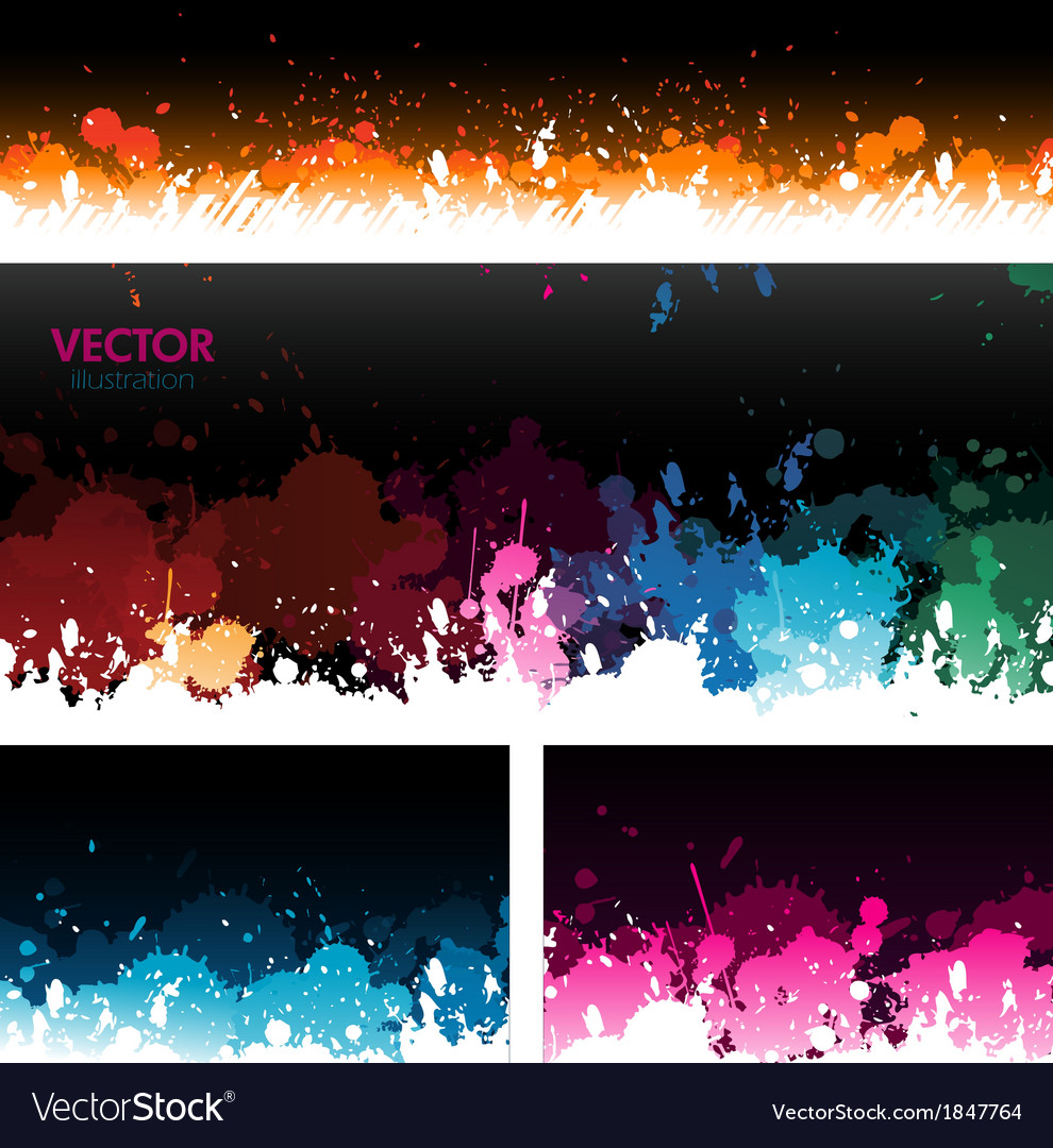 Paint splat banners background vector | Price: 1 Credit (USD $1)