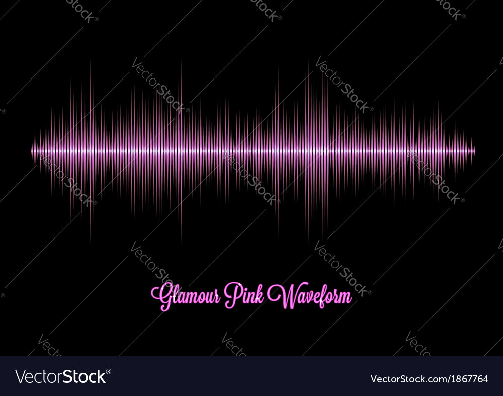 Pink glamour music waveform with sharp peaks vector | Price: 1 Credit (USD $1)