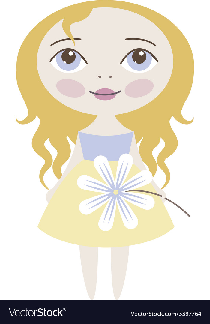 Pretty girl vector | Price: 1 Credit (USD $1)